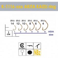 Крючки Gurza-AKITA KAIZU Ring NBR № 4 (10шт/уп)