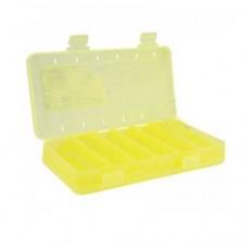 КОРОБКА  для воблеров и балансиров ВБ-2 желтая 2-х стор.(6+6отд.)(230х125х35мм)