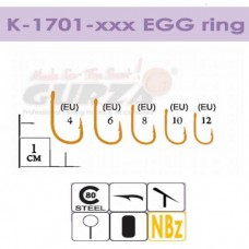 Крючки Gurza-EGG ring NBR № 8 (6шт/уп)