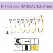 Крючки Gurza-NATURAL BEND ring NBR № 8 (6шт/уп)