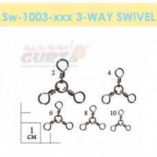 Вертлюжки Gurza-3-way swivels (тройной) ВК № 8 (10шт./уп)