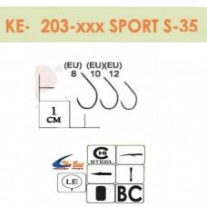 Крючки Gurza - SPORT S-35 #12 BC 8 шт/уп. (широкое ухо)