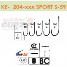 Крючки Gurza - SPORT S-59 #4 BC 8 шт/уп. (широкое ухо)