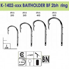 Крючки Gurza-BAITHOLDER BF Ring (2BH) BN №3/0 (7шт/уп)