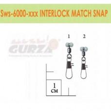 Застежка с вертлюжком Gurza - Interlock Match Snap #1 5 шт./уп.