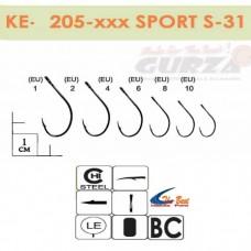 Крючки Gurza - SPORT S-31 #2 BC 8 шт/уп. (широкое ухо)