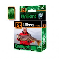Плет. шнур  PE ULTRA BRILLIANT STOIC Ultra 0.18mm 135m Green