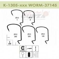 K-1306-200 WORM 37145 # 2/0 NI 14шт (офсет, эконом класс)