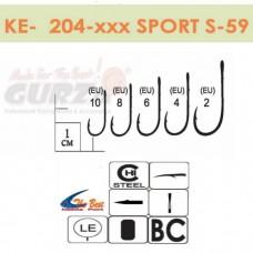Крючки Gurza - SPORT S-59 #10 BC 8 шт/уп. (широкое ухо)