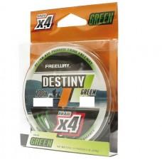 Шнур FREEWAY FWx4 DESTINY GREEN 0.10mm 100m 3.6kg (зеленая)