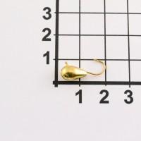 Мормышка MURENA вольфрам КОНУС  с ушком d6 цв.126(золото) (уп.10шт).