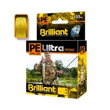 Плет. шнур  PE ULTRA BRILLIANT STOIC Ultra  0.18mm 135m Yellow
