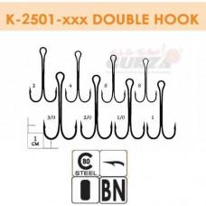 Крючки Gurza-Double Hook Long  Shank №1/0 (25шт/уп)