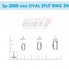 Заводные кольца Gurza - Oval Split Rings Zn #7 (dia 11X5,5 mm, 40 kg test) 10 шт./уп.