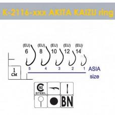 Крючки Gurza-AKITA KAIZU Ring BN № 6 (7шт/уп)